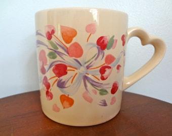 Heart Shaped Handle Russ Retro Coffee/Tea Mug