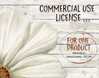 Commercial Use Clipart License // Single Pack Commercial License // Clipart Commercial Use // Commercial Clipart Usage for Digital Downloads