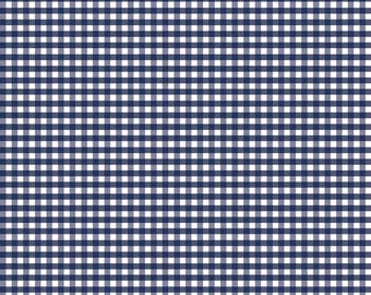 Gingham Fabric, Riley Blake Designs, Gingham Check, Craft Fabric, Navy Blue Fabric, Cotton Fabric By The Yard, Quilting Fabric, Craft Supply