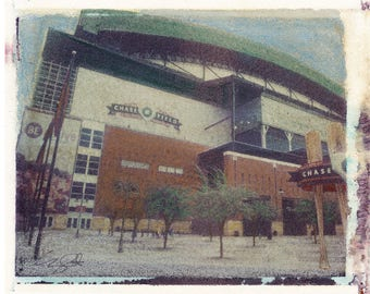 MLB Chase Field Digital 8x10 download Polaroid Image Transfer