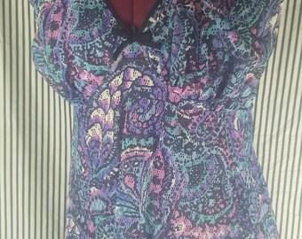 St. Michael Purple Paisley Nightgown