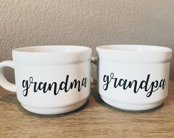 Grandma and Grandpa Soup Bowls Set
