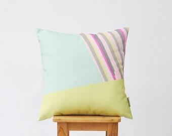 """Decorative Pillows, Throw Pillow, Cushion Cover, Modern Kids Pillows, Modern Pillow Case, Nursery Decor 16"""" x 16"""""""