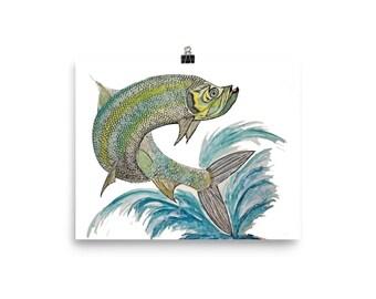 Tarpon Fish Poster
