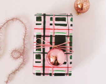 Christmas Wrapping Paper: Patchwork Plaid