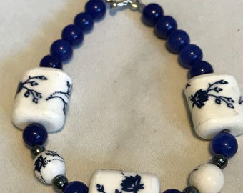 """7"""" bracelet with a touch of the orient"""