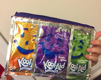 Recycled kool aid make up bag