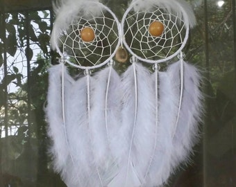 "Dreamcatcher 5.5 ""-White owl/The sage-JAIAWEL Handmade Crafts 51."