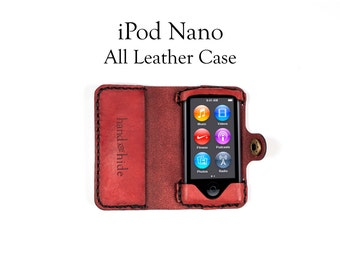 iPod Nano (7th and 8th Gen) All Leather Case, iPad Nano leather case, iPod Nano pouch, handmade leather iPod case, custom leather iPod case