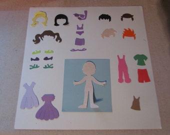 """set of 4""""  dolls & clothes"""