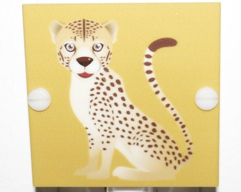 Baby Cheetah Night Light With LED Fixture and Free Shipping
