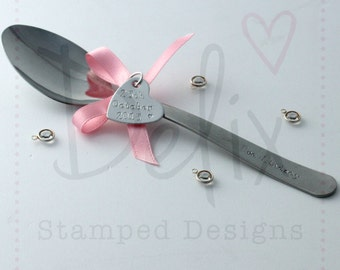 Christening personalised spoon, name, date, baptism