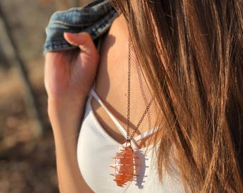 Red Calcite Necklace