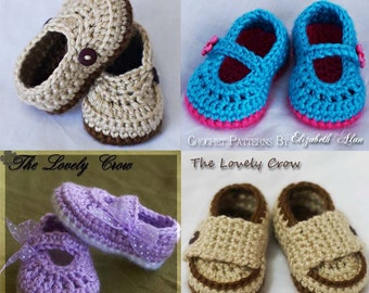 Booties Crochet Patterns - 4 Booties Crochet Patterns Included digital