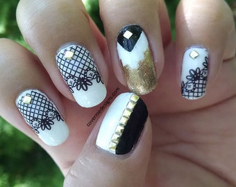 Lacy - Water Slide Nail Decals