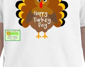 happy turkey day shirt, turkey shirt, thanksgiving shirt, thanksgiving turkey