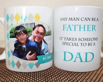 Father's Day Photo Mug - Father or Dad - Made to Order with Free Gift Box