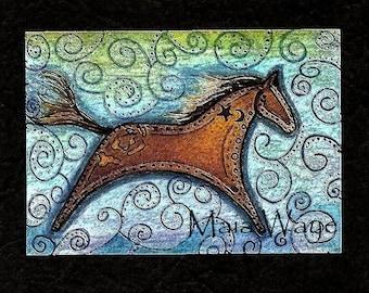 Freedom Horse / greeting card