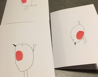 Robin cards pack of 3