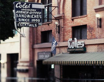 Cole's, Los Angeles photography, Los Angeles Landmark, DTLA, historic architecture downtown Los Angeles, dreamy, bokeh photography, food art