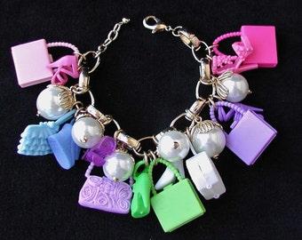 Fun, Flirty & Fabulous Barbie Handbags and Shoes Charm Bracelet