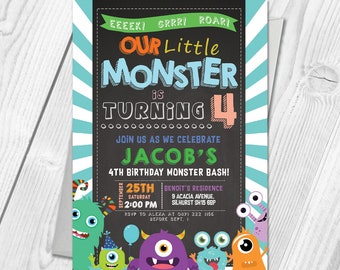Kids monster party Etsy