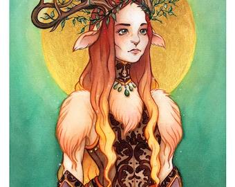 Queen Gloria - Terratoff Open Edition Faun Art Print