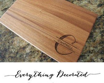 Personalized Cutting Board Engraved Cutting Board Custom Cutting Board Christmas Gift Wood Cutting Board Wedding Gift Cutting Board