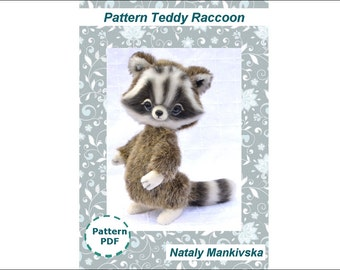 Teddy Raccoon pattern and tailoring technology in English