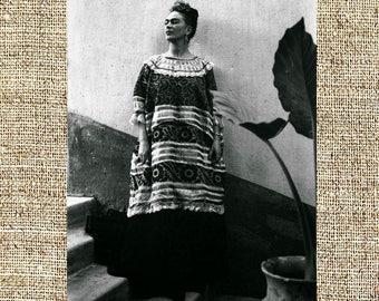 Frida Kahlo photograph, Frida black and white photo print, Kahlo vintage photograph, framed photograph, legendary painters, iconic artists