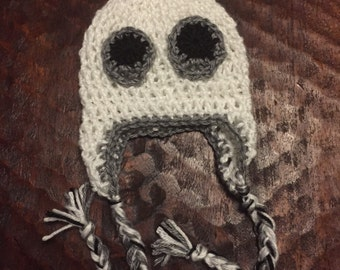 crocheted halloween ghost hat - toddler - costume