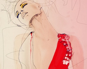 Atmosphere - Fashion Illustration Art Print