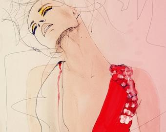 Ambiance - mode Illustration Art Print