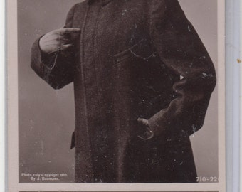 RPPC Antique Postcard Suffragette Who Me?-Woman Wears Derby Hat- Heavy Wool Overcoat-Suffragette Votes For Women