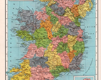Galway ireland map Etsy
