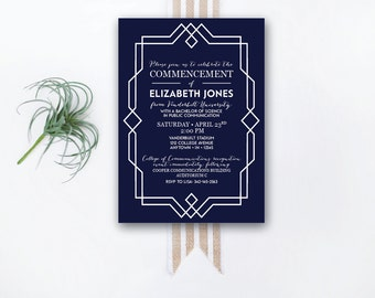 INSTANT DOWNLOAD graduation invitation / commencement invitation / college graduation / university graduation / formal graduation invite