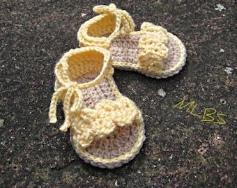Baby sandals crochet pattern sandals booties Photo Tutorial Instant Download Nr.19