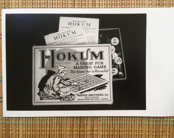 Hilarious Hokum and Hijinks!  Vintage Black and White Photo of Hokum, Vintage Parker Bros Board Game