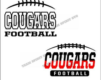 Cougars Football Laces Download Files - SVG, DXF, EPS, Silhouette Studio, Vinyl Cut Files, Digital Cut Files -Use with Cricut and Silhouette