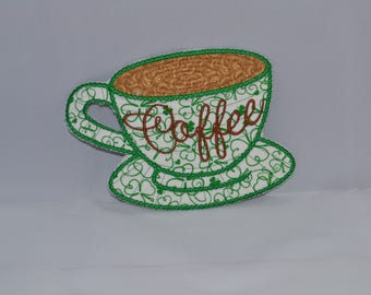 Coffe cup Coasters for the coffee lover that can be personalized and customized