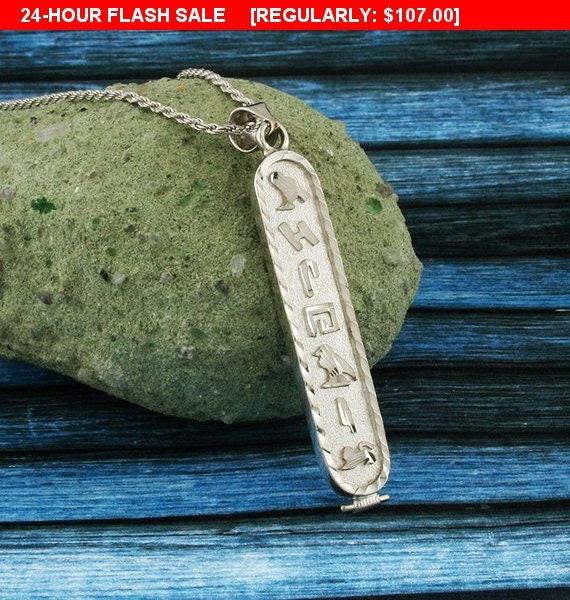 Silver name necklace cartouche pendant cartouche necklace aloadofball Choice Image