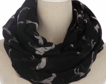 Ladies greyhound whippet large scarfs shawl wrap