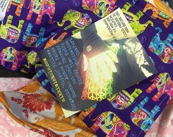 Large Organic Lavender Hippie Pillow
