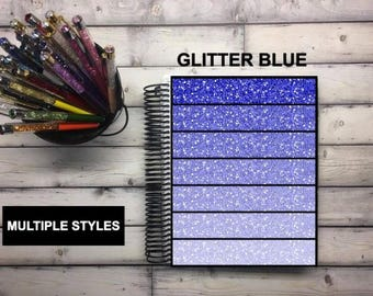 Laminated Planner Covers and Dashboards - Gradient Glitter