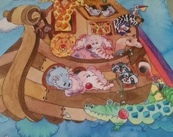 Noah Ark Baby's First Five Years Record Book
