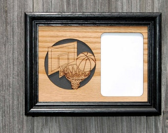 5x7 Basketball Picture Frame, Gift for Basketball Player Parent Fan Gift, Basketball Decor, Sports Photo Frame