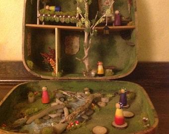 Fairy gnome suitcase