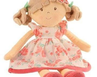 Beautiful Personalised Embroidered Rag Doll