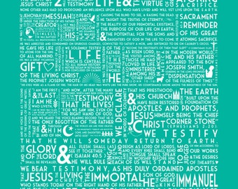 The Living Christ - Subway Art - Instant Download