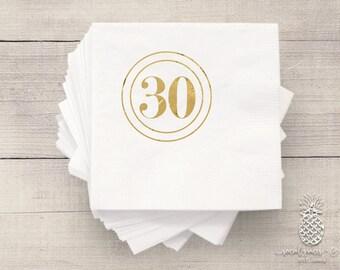 Birthday Party Napkins | Personalized Napkin | 30th Birthday Napkins